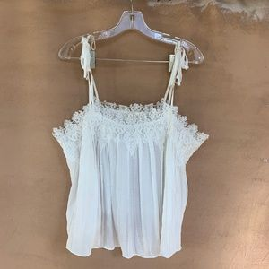 ANTHROPOLOGIE ELOISE LACE-TRIMMED CAMI